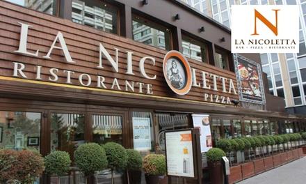 Menú italiano para 2 o 4 con entrante, principales, bebida y opción a postre desde 19,95 € en La Nicoletta Azca