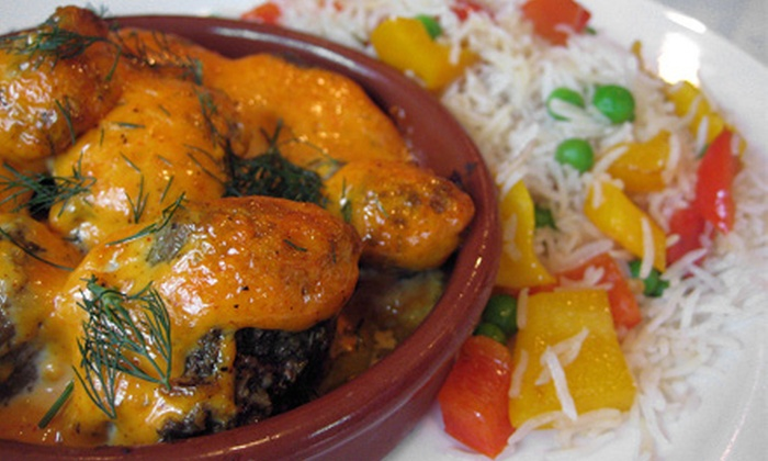 Caravan Kebab - Forshee's Firdale Village: Indian, Mediterranean, and European Food at Caravan Kebab (Up to Half Off). Three Options Available.