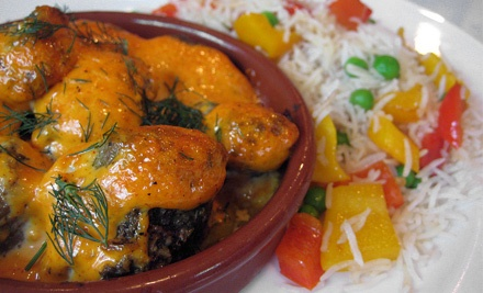 Indian, Mediterranean, and European Food at Caravan Kebab (Up to Half Off). Three Options Available.