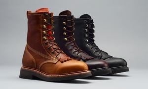 Men's Genuine Leather Goodyear Welted Virgil Kiltie Work Boots