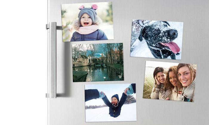 Lots de 5 à 30 magnets photo personnalisés pour frigo dès 4,99€