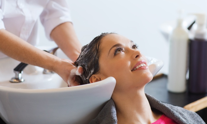 Haircut Package or Keratin Treatment at Off the Top Hair Cutters (Up to 61% Off). Six Options Available.