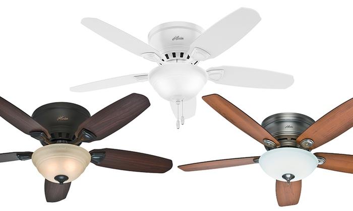 Hunter 46 or 52 flush mount ceiling fans mfr refurb groupon hunter 46 or 52 flush mount ceiling fans mfr refurb mozeypictures Choice Image