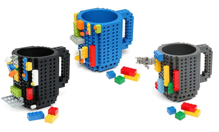 Building-Brick Mug: One ($19) or Two ($29) In Choice of Three Colours