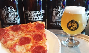 Lincoln Brewing Company: Pizza and Beer or Pizza, Garlic Knots, and Beer for Two or Four at Lincoln Brewing Company (Up to 39% Off)