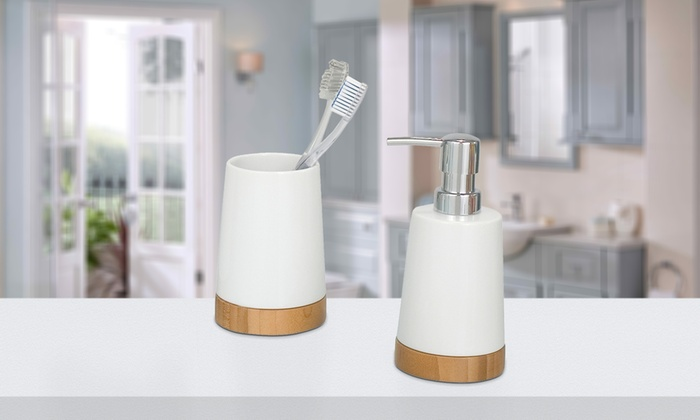 Accessori bagno bamboo wenko groupon goods