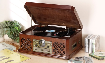 Zennox six-in-one Wooden Music Centre for £99 With Free Delivery (60% Off)