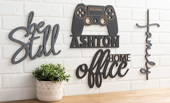 Up to 81% Off Personalized Wood Home Decor Signs