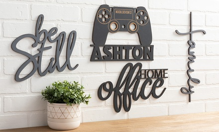 One or Two Personalized Wood Home Decor Signs from Personalized Planet (Up to 85% Off)