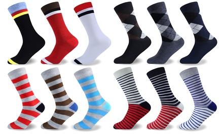 12, 24 or 36Pack of Men's Funky Socks