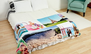 75% Off Custom Fleece Photo Blanket from Collage.com   at Collage.com, plus 6.0% Cash Back from Ebates.