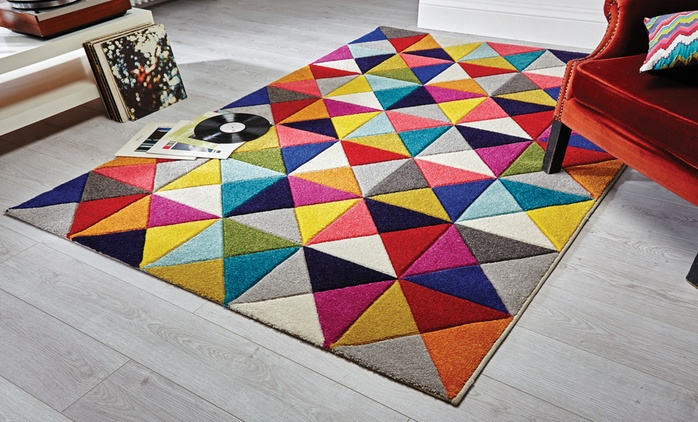Geometric Hand-Carved Rug from £29.99 (Up to 61% Off)