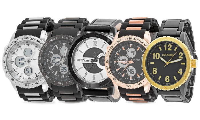 44ac5243e1a Up To 68% Off on Steve Madden Men's Watch | Groupon Goods