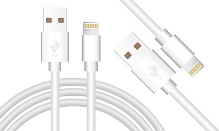 1 ou 2 câbles convenable Iphone (MFI) – à partir de l'iPhone 5 – longueur 1 mètre