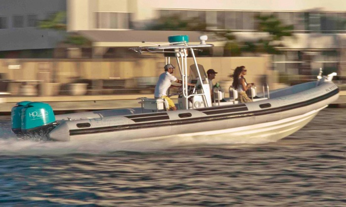 H2O Watersports - Fort Lauderdale: Two-Hour Zodiac Eco-Ocean Boat Tour for One, Two, or Six from H2O Watersports (Up to 51% Off)