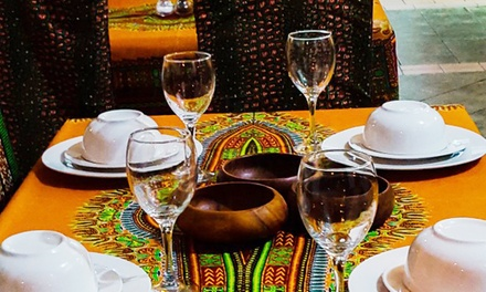 TwoCourse AfroCaribbean Meal for Two or Four at Divine African & Caribbean Restaurant