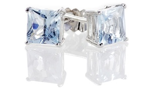 2.00 CTTW Princess-Cut Aquamarine Studs in Sterling Silver at 2.00 CTTW Princess-Cut Aquamarine Studs in Sterling Silver, plus 6.0% Cash Back from Ebates.