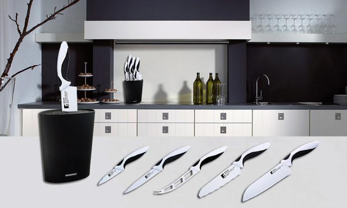 jusqu 39 64 set de 6 couteaux de cuisine groupon. Black Bedroom Furniture Sets. Home Design Ideas