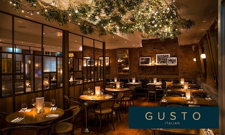 TwoCourse Meal for Two at Gusto Italian, 18 Locations