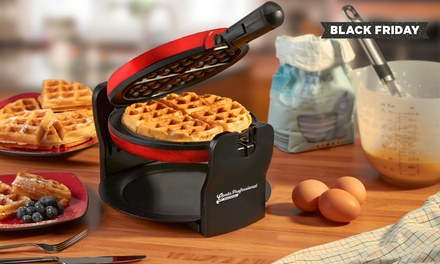 Cooks Professional Luxury Rotary Waffle Maker in a Choice of Colour for £24.98 With Free Delivery (64% Off)