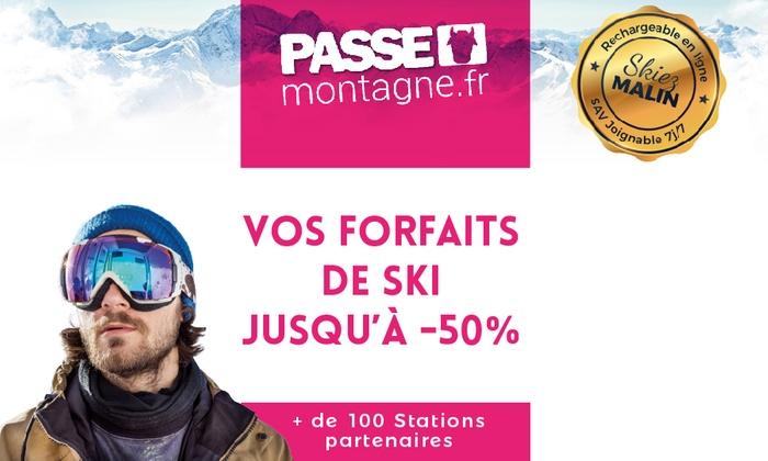 Cartes réductions ski ou coffrets ski pour 1, 2 ou 4 personnes dans plus de 100 stations dès 6 € (jusqu'à 60% de remise)