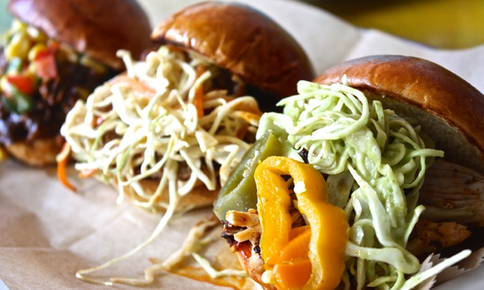 BBQ Joint by Taco Joint - BBQ Joint by Taco Joint: Tacos, Sliders and Margaritas for Two, Valid Sunday–Thursday or Any Day at BBQ Joint (Up to 40% Off)