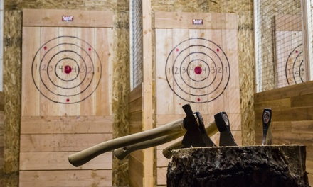90Min Axe Throwing Session $24, 2 $48, 3 $72 or 4 People $96 at Maxed Out Axe Throwing Up to $160 Value
