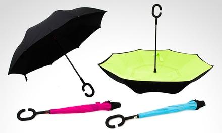 Paraguas invertido en color a elección