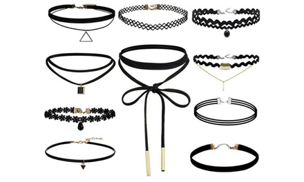 Ten-Piece Retro Choker Set