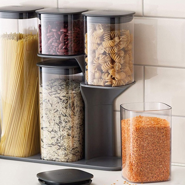 Joseph Joseph Dry Food Storage Container Set With Stand (3  Or 5 Pc.)