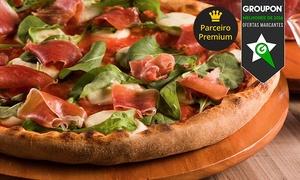 Pizza César - 5 unidades: Pizza César – 5 endereços: rodízio de pizza, massas, risotos e galetos para 1 ou 2 pessoas