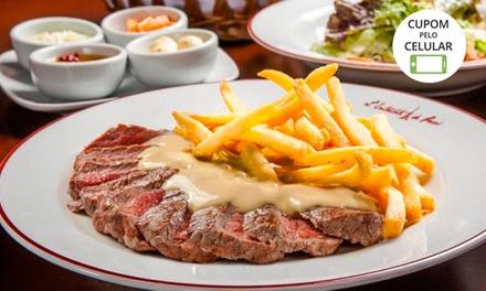 Salada + entrecôte executivo ou classique (opção com sobremesa) no LEntrecôte de Paris – Higienópolis