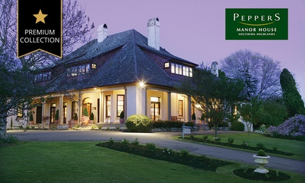 Southern Highlands: One, Two, or Three-Night Romantic Escape + Wine Tasting and 18 Holes of Golf at Peppers Manor House