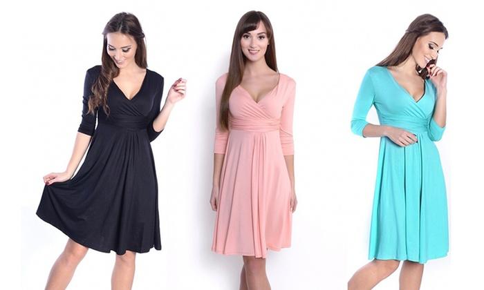 Bis zu 63% Rabatt Klassisches Damen-Kleid   Groupon 5ae17a3001