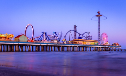 Two All-Day Ride Passes at Galveston Pleasure Pier and a $50 Landry's eGift Card (18% Off)