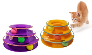 Titan's Tower Interactive Ball Toy for Cats