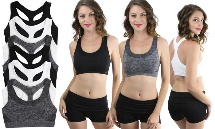 Ladies Jennifer Sports Bra 3pk Assorted Sizes and Colours