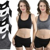 Women's Seamless High-Compression Double-Layer Sports Bras (3-Pack)