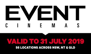 Event Cinemas: Tickets for $13.50