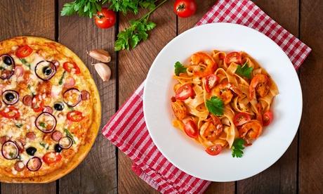 Italienisches 3-Gänge-Menü mit Pizza oder Pasta für 2 oder 4 Personen im Restaurant Little Italy in Haus