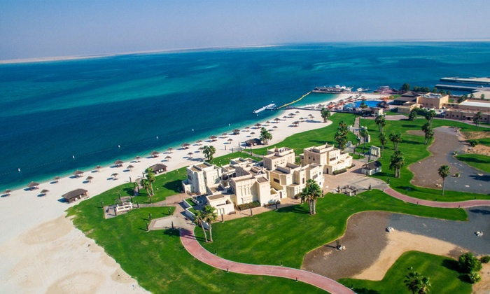 Al Maya Island Resort - Abu Dhabi: Beach and Pool Access with Meal and Transportation or Villa Hire for Up to Four at Al Maya Island Resort (Up to 54% Off)
