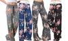 Damen-Hose mit Blumen-Muster