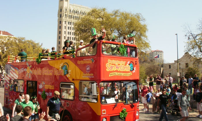 City Sightseeing San Antonio - City Sightseeing San Antonio: Double-Decker Bus Tour for Two, Four, Six, Ten, or a Family of Five from City Sightseeing San Antonio (Up to 50% Off)