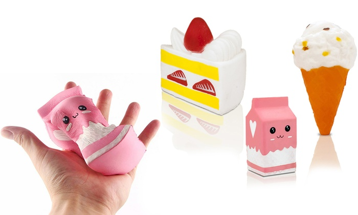 Set of Three Dairy-Themed Jumbo Slow Rise Squishies for £10.99