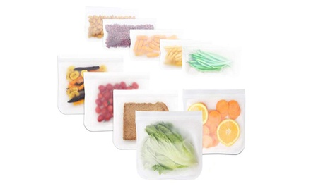 Reusable Food Storage Ziplock Bags in Choice of Size: Three $9.95, Five $15 or Ten $19