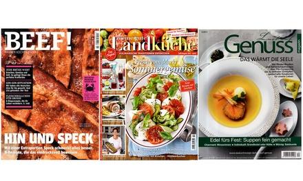 Jahres-Abo Kochzeitschrift nach Wahl frei Haus