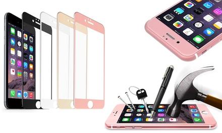 Tempered glass en frame voor iPhone 6/6S/6S plus en 7/7 plus, in een kleur naar keuze