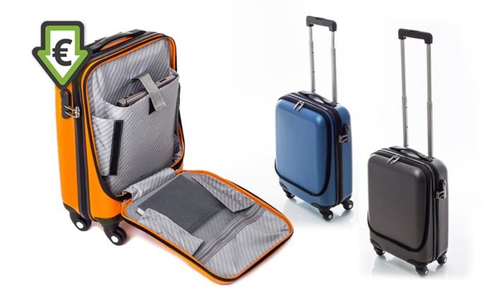 valise cabine poche frontale siesta design groupon. Black Bedroom Furniture Sets. Home Design Ideas