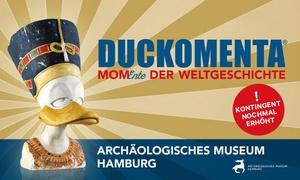"""Archäologisches Museum Hamburg: 2 Tickets für die Ausstellung """"DUCKOMENTA– MomEnte der Weltgeschichte"""" im Archäologischen Museum Hamburg (50% sparen)"""