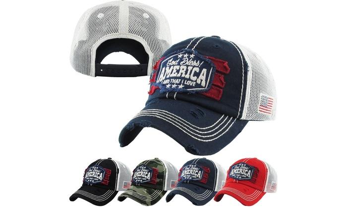 b41a870f766 American Spirit Collection 100% Cotton Baseball Cap